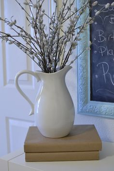 The Velvet Door: From Frame to Chalkboard  beautiful blue frame with chalkboard inside