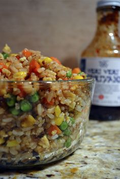 teriyaki fried rice - only 5 ingredients! i would add shredded chicken for protein and obvi sub brown rice for white (or quinoa?)