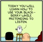 Komiksy Dilberta o uczeniu i prezentacjach – materiał na szkolenie
