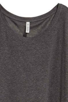 Calf-length T-shirt dress - Dark grey - Ladies | H&M GB