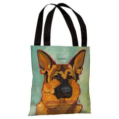 German Shepherd Tote Bag.