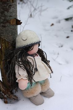 I love Fabs' dolls... and this one is just so wonderfull #waldorf doll