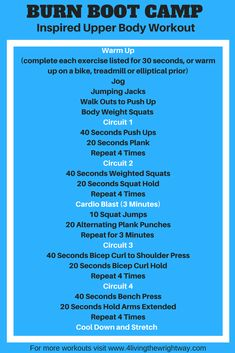 Burn Boot Camp Inspired Workout and Review