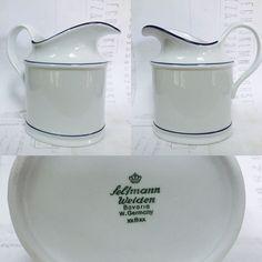 Seltmann Weiden Bavaria W Germany White Porcelain Creamer Blue Band Excellent #SyracuseChina