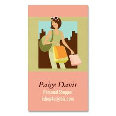 Personal Shopper Business Cards. Make your own business card with this great design. All you need is to add your info to this template. Click the image to try it out!