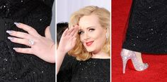 Adele's matching nails and Louboutins at the Grammy Awards