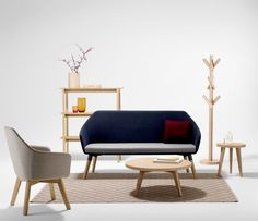 Another couch or chair option Office Interior Design, Office Interiors, Solid Oak, Love Seat, Armchair, Lounge, Couch, Projects, Furniture