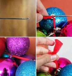 Make a DIY Ornament Garland in 10 Minutes or Less via Brit + Co