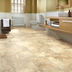 Natural Stone Effect Vinyl Floor Tiles - jersey limestone art select