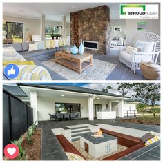 With the winter weather setting in, do you prefer to relax next to the indoor fireplace or snuggle around the outdoor firepit? Vote for your favourite! #stroudhomes #feelslikehome #winter #chill