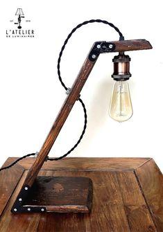 Lampe WORKER industrielle_Bois_Indusrial par AtelierDeLuminaires