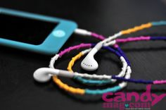 Who says friendship bracelets are just for your wrists? Check out these friendship earphones! Crafts To Do, Arts And Crafts, Diy Crafts, Craft Projects, Projects To Try, Craft Ideas, Girls Time, Creative Crafts, Creative Ideas