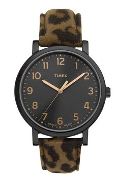 a nice addition to my watch collection...Timex® 'Easy Reader' Leather Strap Watch available at #Nordstrom #NordstromAnniversarySale #NSale