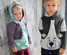 Ebook bag hoodie Aurelie & Aurelio, pattern and sewing instructions at Makerist Fashion Niños, Your Girl, Toddler Boys, Baby Dress, Boy Outfits, Sewing, Children, Clothes, Hoody
