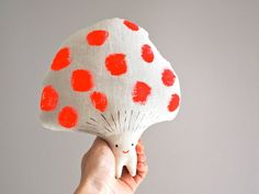 Toadstool, hand painted soft toy decorative wall art on Etsy, 32,65 €