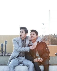 "The new movie ""My Annoying Brother"" will hit theaters this week. EXO idol group member D. played with acclaimed actor Jo Jung-Suk in a comedy drama. Korean Men, Korean Actors, Korean Dramas, Hyung Movie, Live Action, My Annoying Brother, Cho Jung Seok, Korean Tv Shows, Tv Series 2013"