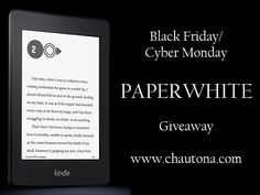 So it's GIVEAWAY time! We're giving away a LOT of prizes!  Great giveaways from author Chautona Havig!    Grand Prize: Kindle Paperwhite! Man, I love these things. I want one so badly that I'm almost salivating here.
