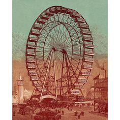 Ferris Wheel Day ❤ liked on Polyvore featuring backgrounds