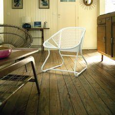 Contemporary armchair / resin / garden / by Frédéric Sofia SIXTIES   FERMOB