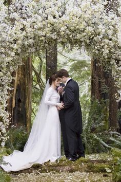 Are you looking to plan your perfect Twilight: Breaking Dawn wedding? I am a huge Twilight fan and had the amazing pleasure to go see Breaking Dawn at midnight opening day. The wedding scenes were my. Twilight Bella Et Edward, Edward E Bella, Twilight Film, Twilight Saga Books, Twilight New Moon, Bella And Edward Wedding, Twilight Poster, Wedding Movies, Wedding Songs