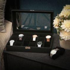 Elegante Uhrenbox  emilyliusongmics@gmail.com Elegant, Turntable, Swatch, Boxes, France, Drinkware, Casket, Cushions, Wristwatches
