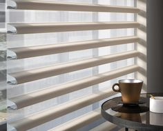 Inspired by the beauty of raw silk and linen our Pirouette® Shades fabric design features relaxed neutrals, sophisticated midtones and breathtaking pops of bold colour.  #Luxaflex #TheArtofWindowStyling #blinds
