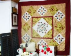 Red Quilted Sewing Room
