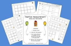 This 7-page freebie can give your students practice with area and perimeter.The center includes:- title page with directions- 10 picture ...
