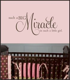 BABY MIRACLE QUOTE  Vinyl Decal  Nursery or baby room by loladecor,