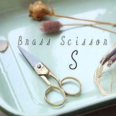 復古風黃銅剪刀 / Retro Brass Scissors  The stylish scissors that is crafted into antique style. Made of brass. 刻意造舊帶出懷舊感覺的剪刀,由黃銅製成。    #zakka #gift