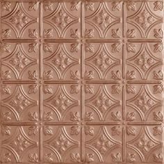 Armstrong�Metallaire Small Floral Circle Lay-In Ceiling Tile (Common: 24-in x 24-in; Actual 23.75-in x 23.75-in)