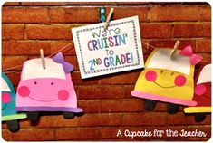 Cruisin' to Grade! - A Cupcake for the Teacher Race Car Themes, Race Cars, End Of School Year, Back To School, Transportation Theme Preschool, World Crafts, 2nd Grade Math, Teaching Tips, Board Ideas