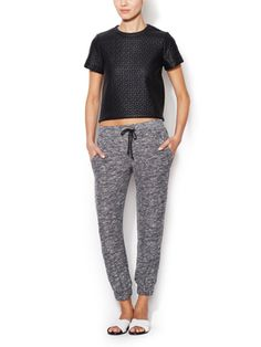 Knit Drawstring Jogger Pants from Laid-Back Luxe Feat. Renvy on Gilt