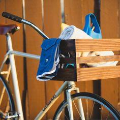 DIY Wooden Bicycle Basket