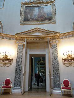 doorway in the Saloon in Kedleston Hall - Robert Adam