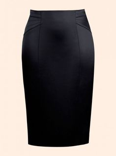 Couture Warrior - Black Pencil Skirt - timeless and chic.selected by the Duchess of Virago! Fashion Line, Work Fashion, Fashion Details, Sexy Skirt, Dress Skirt, Pencil Skirt Outfits, Work Skirts, Work Attire, Plus Size Outfits