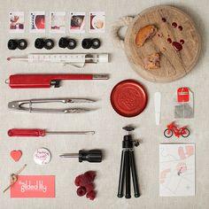 Collection of stuff organised neatly, by Kootoyoo.