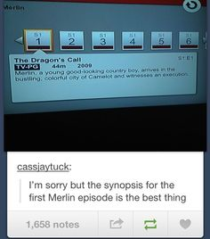 Laughing. So. Hard. You'd think Merlin was the one who wrote the description himself. XD