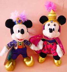 2015 Tokyo Disney Halloween Mickey Minnie Disneysea 14th Plush badge 3 set Japan #Disney