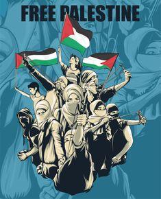 Free Palestine by noviarifin on DeviantArt Yasser Arafat, Palestine Flag, Islamic Cartoon, Anime Muslim, Tourism Poster, Islam Facts, Arabic Art, Islamic World, Islamic Pictures