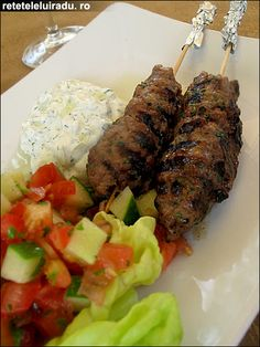 lamb kofte kebab with minty yogurt sauce more food recipes lamb ...