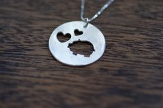 Items similar to i love piggies necklace pig necklace piggy necklace love pigs necklace pig pendant sterling silver pig necklace on Etsy Pig Necklace, Pocket Pig, Showing Livestock, Mini Pig, Cute Piggies, Pet Pigs, Pig Party, This Little Piggy, Animal Jewelry