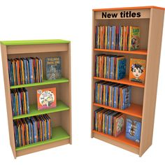 We design and manufacture furniture for libraries, schools & nurseries with the aim of creating vibrant, colourful and funky learning environments. Corner Shelving Unit, Corner Unit, Bookshelves, Bookcase, Kindergarten Design, Funky Furniture, Adjustable Shelving, School Design, Nursery