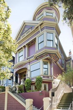 "bellapinquecottage: ""Victorian on Hayes with a view of San Francisco cityscape, and Alamo Square. """