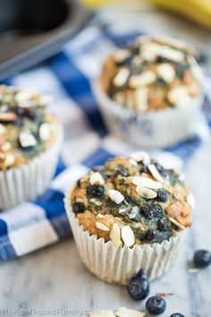 Oil-Free Blueberry Muffins