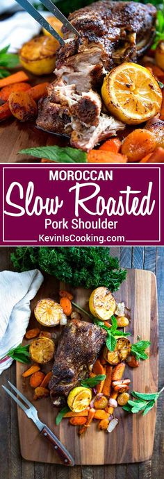 This aromatic and succulent Moroccan Slow Roasted Pork is pull apart delicious after getting a dry rub using my Moroccan Seven Spice blend of black pepper, cinnamon, ginger and other warm spices. So good! via @keviniscooking