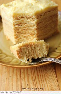 Delicious Honey Cake / Doskonalec (in Polish) Polish Desserts, Polish Recipes, Baking Recipes, Cake Recipes, Dessert Recipes, Polish Cake Recipe, My Favorite Food, Favorite Recipes, Delicious Desserts