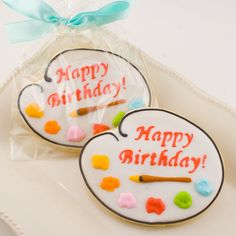 decorated+cookies | Art Palette Cookie Favors 12 Decorated Cookies by TSCookies