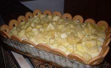 torta de biscoito com abacaxi