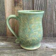 Handmade floral ceramic mug